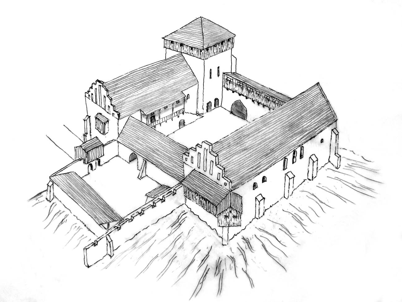 Pyzdry - royal castle - Ancient and medieval architecture