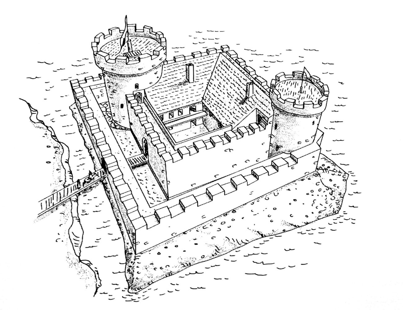 Virtsu - castle Werder - Ancient and medieval architecture